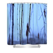 Weeping Forest Frost Shower Curtain