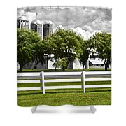 Weeping Willow Green Shower Curtain