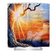 Weeping Willow Sighs Shower Curtain
