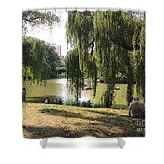 Weeping Willows In Central Park  Shower Curtain