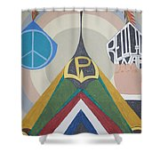Weighing Peace Shower Curtain