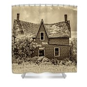 Weight Of The World - Antique Sepia Shower Curtain