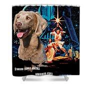 Weimaraner Art Canvas Print - Star Wars Movie Poster Shower Curtain