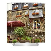 Weinhaus Restaurant Bachrach Germany Shower Curtain