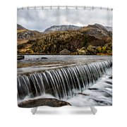 Weir At Ogwen Shower Curtain