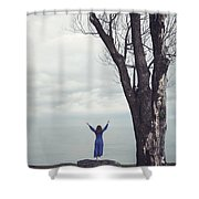 Welcome Beautiful Day Shower Curtain
