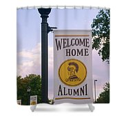 Welcome Home Banner Shower Curtain