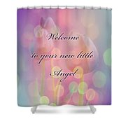 Welcome New Baby Greeting Card - Tulips Shower Curtain