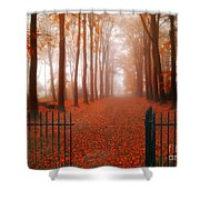 Welcome Shower Curtain by Jacky Gerritsen