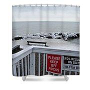 Welcome Polar Bear Club Shower Curtain