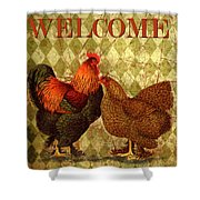Welcome Rooster-61412 Shower Curtain