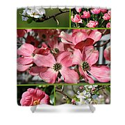 Welcome Spring Collage Shower Curtain