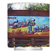 Welcome To Cars Land Shower Curtain