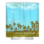 Welcome To Daytona Beach Shower Curtain