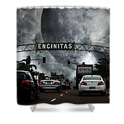 Welcome To Encinitas California 5d24221 Shower Curtain by Wingsdomain Art and Photography