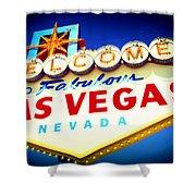Welcome To Fabulous Las Vegas Shower Curtain