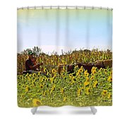 Welcome To Gorman Farm In Evandale Ohio Shower Curtain