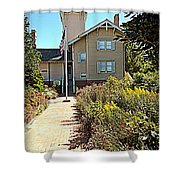 Welcome To Hereford Inlet Lighthouse Shower Curtain
