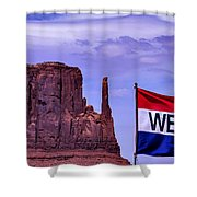 Welcome To Monument Valley Shower Curtain
