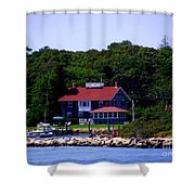Welcome To Oak Bluffs Shower Curtain