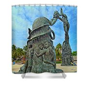 Welcome To Playa Del Carmen Mexico Shower Curtain
