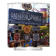 Welcome To Radiator Springs Shower Curtain