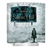 Welcome To Silent Hill Shower Curtain