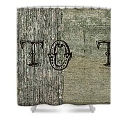Welcome To The Cabin Shower Curtain by Michelle Calkins