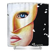Welcome To The Masquerade Shower Curtain