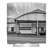 Welcome To The Twilight Zone Bw Shower Curtain