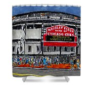 Welcome To Wrigley Field Shower Curtain