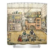 Well Stocked Rustic Kitchen Shower Curtain
