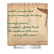 Well To Remember Shower Curtain by Elaine Plesser