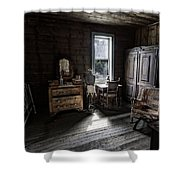 Wells Hotel Bridal Suite - Garnet Ghost Town - Montana Shower Curtain
