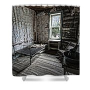 Wells Hotel Room 2 - Garnet Ghost Town - Montana Shower Curtain