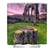 Welsh Abbey  Shower Curtain by Adrian Evans