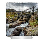 Welsh Bridge Shower Curtain by Adrian Evans