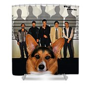 Welsh Corgi Pembroke Art Canvas Print - The Usual Suspects Movie Poster Shower Curtain