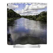 Welsh River Scene Shower Curtain