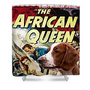 Welsh Springer Spaniel Art Canvas Print - The African Queen Movie Poster Shower Curtain