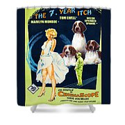 Welsh Springer Spaniel Art Canvas Print - The Seven Year Itch Movie Poster Shower Curtain