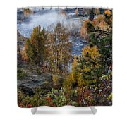 Wenatchee River From Dryden Road Shower Curtain