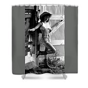 Wendy Barn Door-2 Shower Curtain