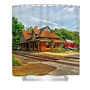 Wenonah Train Station Shower Curtain