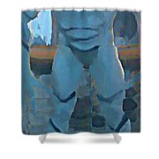 We're Here  Shower Curtain