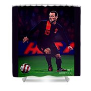 Wesley Sneijder  Shower Curtain by Paul Meijering