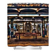 West 4th Street Subway Shower Curtain