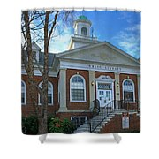 West Avenue Library Shower Curtain