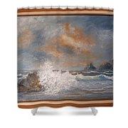West Coast Seascape Shower Curtain