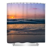 West Coast Sunset Cool Tones Shower Curtain